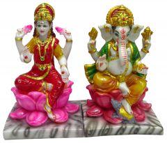 "Paras Magic Lotus Lakshmi Ganesha Idol (7X6.5X11"")"