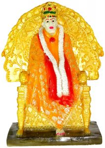 "Paras Magic Sai Baba on Singhasan(8X5.5X12"")"