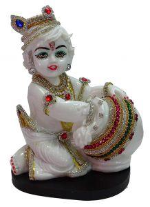 "Paras Magic White Krishna Idol(8X6.25X11"")"