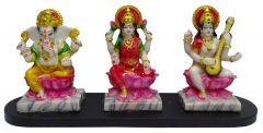 "Paras Magic Lakshmi Ganesha and Saraswati (18.5X5.5X8"")"