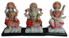 Paras Magic Lakshmi Ganesh Saraswati Ji Statue (13.75X4.5X7.5 inch)