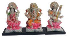 Paras Magic Laxmi Ganesh Saraswati Ji(13.75X4.5X7.5 inch)