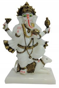 Paras Magic Ganesh Ji Standing On Rat (6x3x9 inch)
