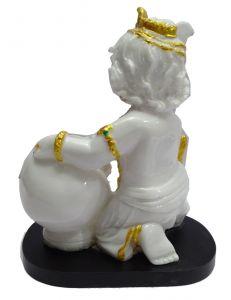 """Paras Magic White Makhan Chor Idol(8X5X9.5"""")"""