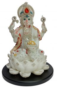 Paras Magic Lotus Ganesh JI (8.5x8.5x11 inch)