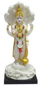 "Paras Magic White Vishnu Idol(5.5X5.5X13"")"
