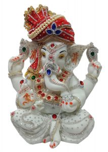 "Paras Magic Ganesha Idol Statue 01(13.5X7.5X16.5"")"
