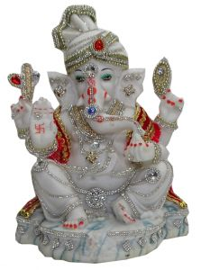 "Paras Magic Pagdi Ganesh Ji(8.25x5.5x12"")"