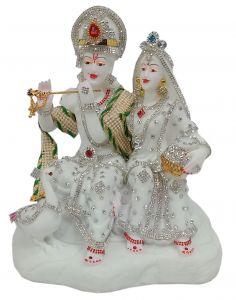 Paras Magic Sitting Radha Krishna Idol (10X6X10.5 inches)